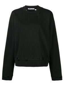 T By Alexander Wang distressed sweatshirt - Black