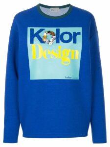Kolor embellished print sweatshirt - Blue