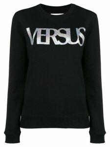 Versus printed logo sweatshirt - Black