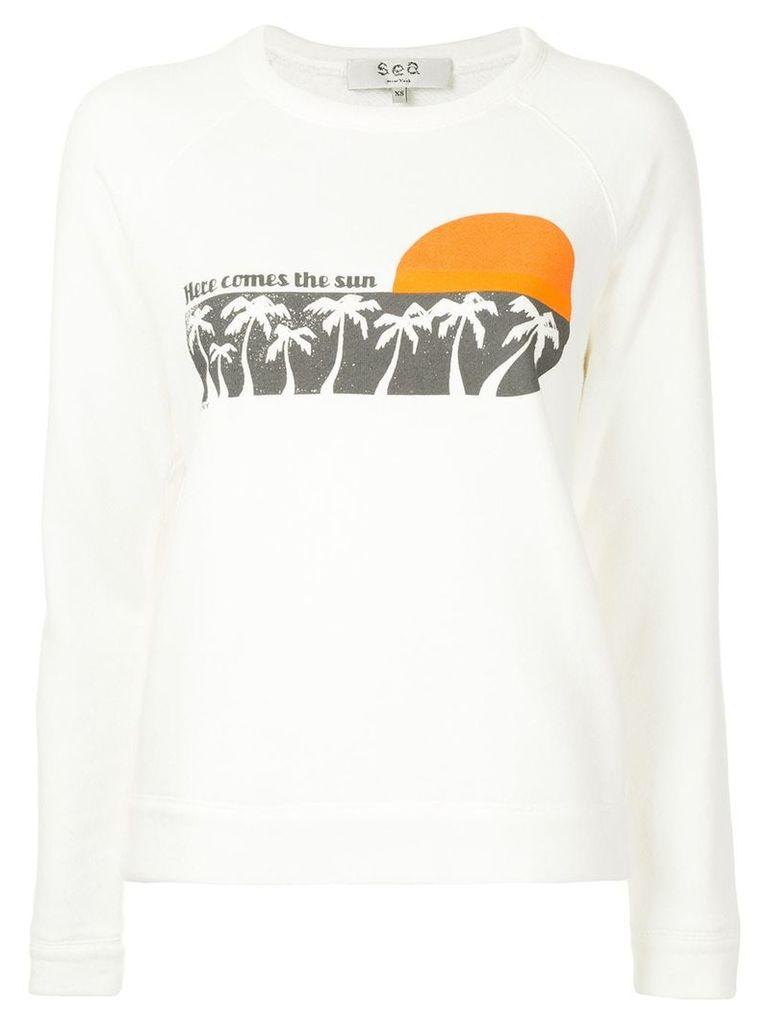 Sea Here Comes The Sun sweatshirt - White