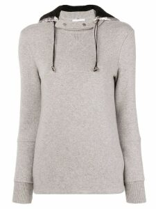Paco Rabanne detachable hood sweatshirt - Grey