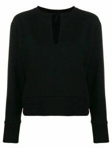 Unravel Project V-neck sweatshirt - Black