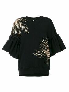 Ioana Ciolacu sweatshirt with ruffled sleeves - Black