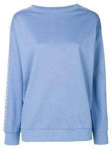 Moncler logo trim sweatshirt - Blue