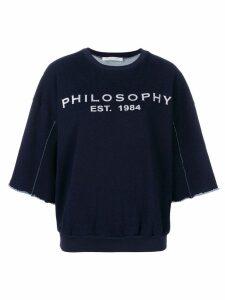 Philosophy Di Lorenzo Serafini logo print sweatshirt - Blue