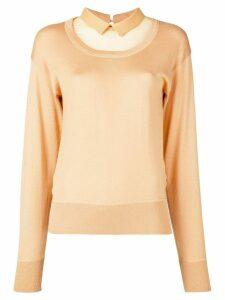 Nº21 sheer panel sweatshirt - Yellow