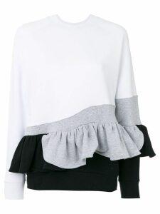 Ioana Ciolacu sweatshirt with ruffle detail - White