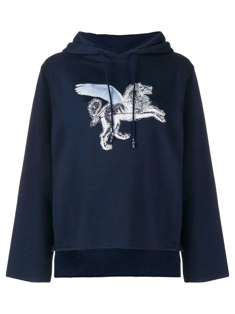 Golden Goose winged lion sweatshirt - Blue