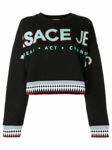 Versace Jeans logo patch sweatshirt - Black