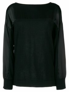 Alberta Ferretti lace panel sweatshirt - Black