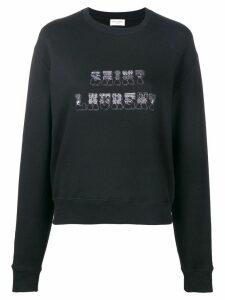 Saint Laurent logo patch sweatshirt - Black