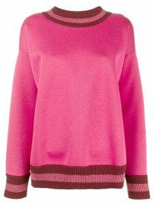 Moncler loose fit logo sweatshirt - Pink