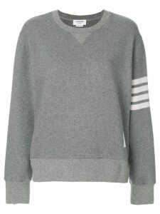 Thom Browne Engineered 4-bar Stripe Crewneck Sweatshirt In Double Face