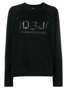 Diesel holey sweatshirt - Black