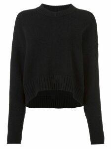 Proenza Schouler Wool Cashmere Crewneck Sweater - Black