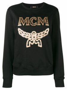 MCM embroidered logo sweatshirt - Black