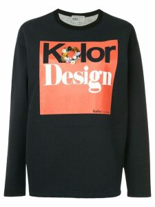 Kolor embellished logo sweatshirt - Blue