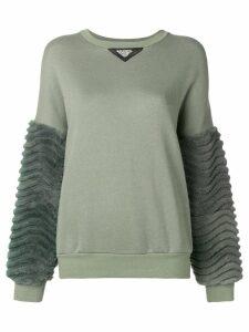 Mr & Mrs Italy laser sculpted sweatshirt - Green