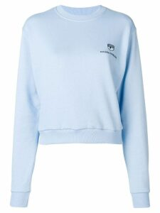 Chiara Ferragni embroidered logo sweatshirt - Blue