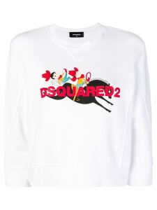 Dsquared2 Cowboy print sweatshirt - White