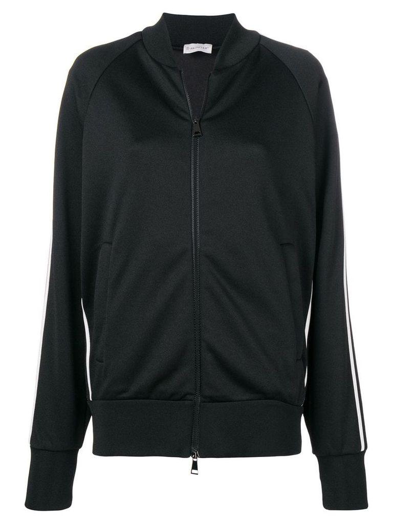 Moncler knitted track jacket - Black