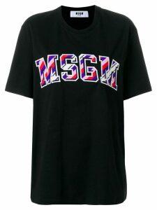 MSGM front-logo loose T-shirt - Black