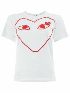 Comme Des Garçons Play heart print T-shirt - White