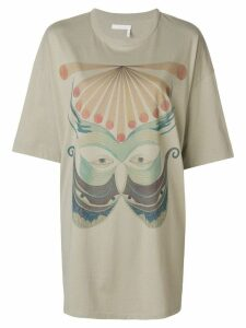 Chloé oversized graphic print T-shirt - Grey
