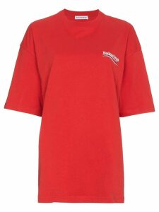 Balenciaga Red Logo T-Shirt