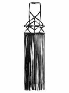 Manokhi fringed harness top - Black
