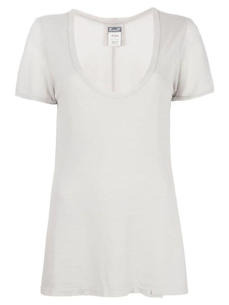 Kristensen Du Nord deep U-neck T-shirt - Grey