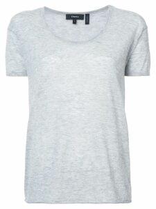 Theory plain classic T-shirt - Grey