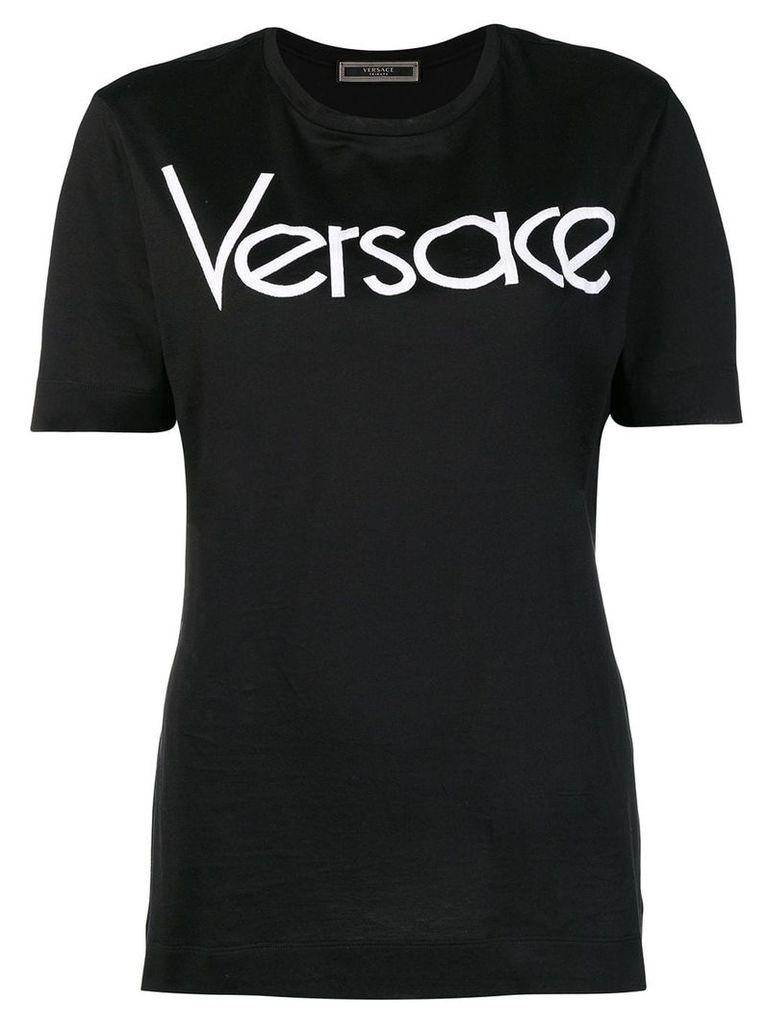 Versace logo print T-shirt - Black