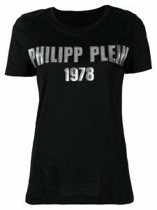 Philipp Plein metallic 1978 logo T-shirt - Black