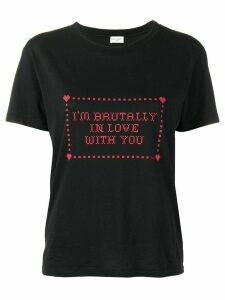 Saint Laurent I'm Brutally In Love With You print T-shirt - Black