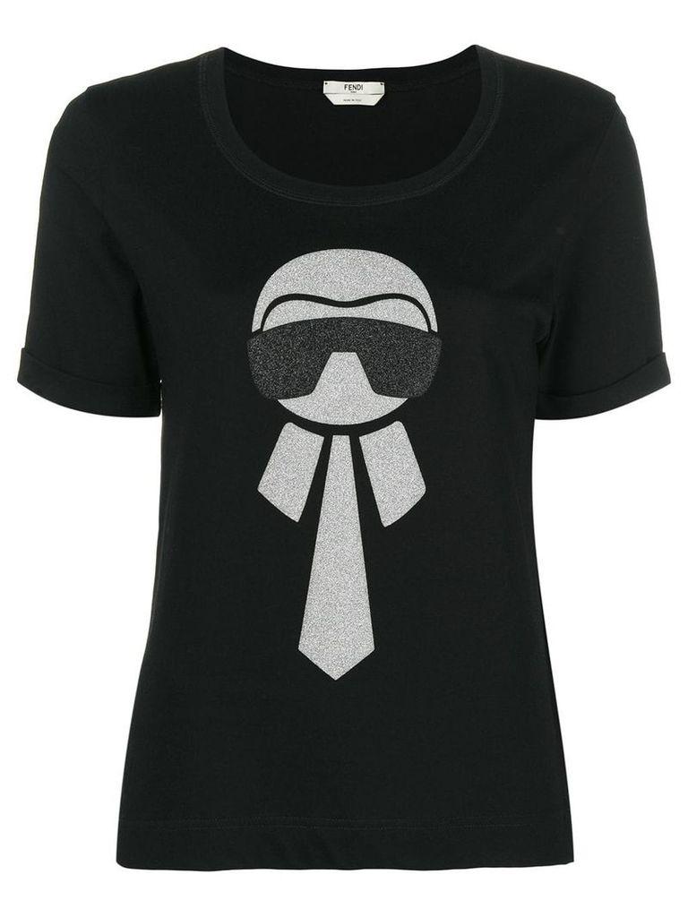 Fendi Karl motif T-shirt - Black