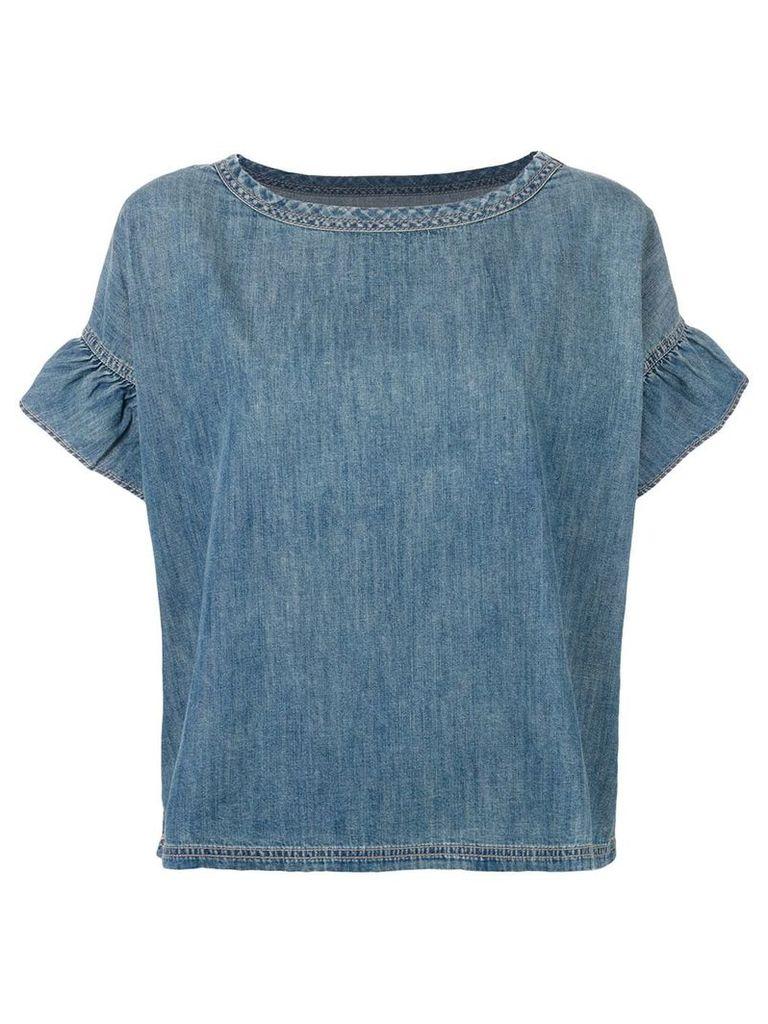 Current/Elliott Alexis ruffle shirt - Blue