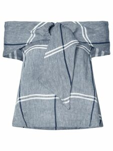 Suno checked top - Grey