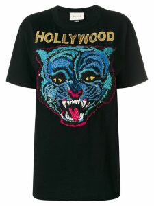 Gucci embroidered T-shirt - Black