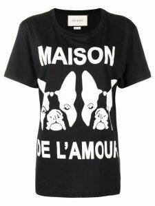 Gucci Maison de L'amour printed T-shirt - Black