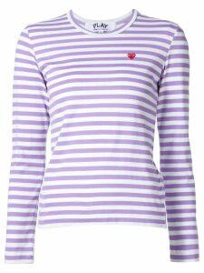 Comme Des Garçons Play mini heart striped T-shirt - Pink