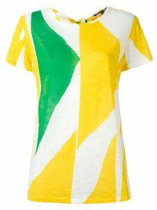 Proenza Schouler printed tie back T-shirt - Multicolour