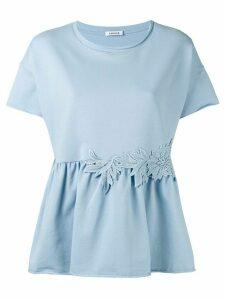 P.A.R.O.S.H. flared hem blouse - Blue