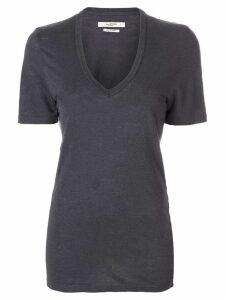 Isabel Marant Étoile V-neck linen T-shirt - Grey