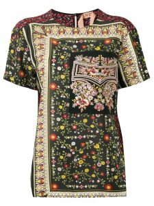 Nº21 floral embroidered detail T-shirt - Multicolour