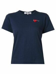 Comme Des Garçons Play embroidered heart T-shirt - Blue