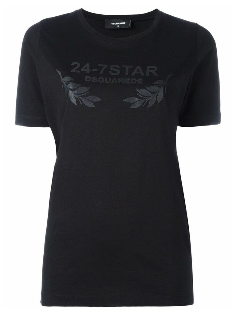 Dsquared2 24-7 STAR logo T-shirt - Black