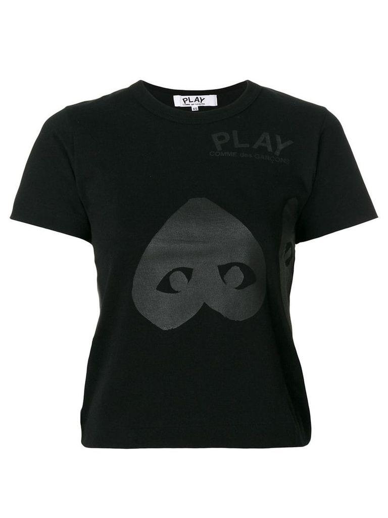 Comme Des Garçons Play logo print T-shirt - Black