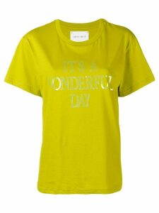 Alberta Ferretti I'ts a Wonderful Day T-shirt - Green