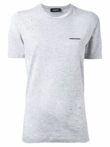 Dsquared2 distressed chest logo t-shirt - Grey